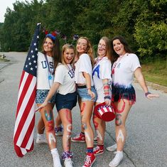 USA post-high school football game theme Source by gamedayapparelco Football Usa, Football Spirit, 4th Of July Outfits, Outfits For Teens, Church Outfits, High School Football Games, Games Football, Football Themes, Football Season