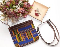 Brown Leather Clutch || Cross Body Bag