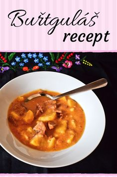 Czech Recipes, Ethnic Recipes, Bon Appetit, Quiche, Curry, Good Food, Food And Drink, Soup, Dinner