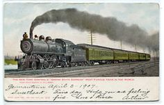Empire State Express New York Central Railroad Train NY 1907 postcard in Topics (Themes) > Transportation > Railway New York Central Railroad, Locomotive, Empire State, Trains, Transportation, Around The Worlds, City, Pictures, Long Island