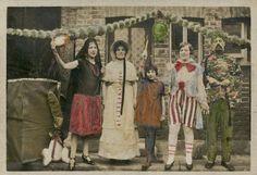 """Foto de mano Vintage color negro de la foto antigua de """"La familia de Boston…"""