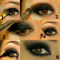 Pretty interesting Make up tip I love the dramatic evening makeup.  Look so pretty.