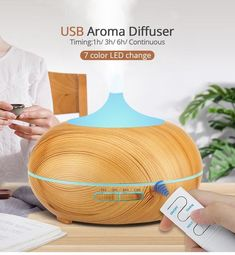 USB Air Humidifier Aroma Diffuser remote control 7 Colors Changing LED Lights cool mist maker Air Purifier for Home Ultrasonic Aromatherapy Diffuser, Aroma Diffuser, Cool Mist Humidifier, Air Humidifier, Natural Essential Oils, Essential Oil Diffuser, Ali Express, Air Purifier, Mists