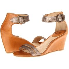 $120.60 Frye Carol Seam (Bronze Metallic Leather/Smooth Full Grain) Women's Wedge Shoes