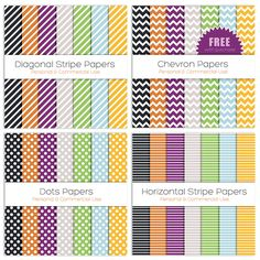 Personal and Commercial Use Halloween digital papers only $3!