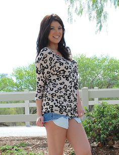 Leopard Me Up Top - Can't go wrong with a little #leopard