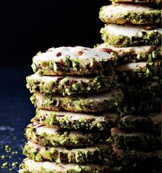 Cherry Pistachio Slice-and-Bake Cookies - SELF