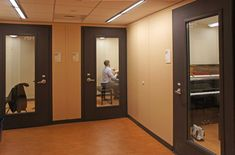 """Wenger """"Sound-Lok""""practice rooms - All colleges should have these!"""