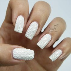 Sweater nails are all the rage right now! Here's how to get the 3-D cable knit nail look - it's actually super easy!