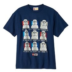 He can express himself with help from the iconic Star Wars Stormtrooper with this boys' LEGO Star Wars tee. #ForceOfFamily