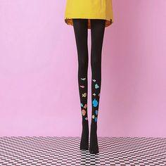 [leggycozy] Kawaii Cute Fish Print Warm Black Pantyhose Stockings Cute Fish, Black Pantyhose, Fish Print, Kawaii Cute, Knee Boots, Stockings, Warm, Fashion, Moda
