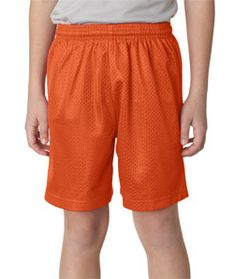 A4 Youth 6 Lined Tricot Mesh Shorts Nb5301 Athletic Orange