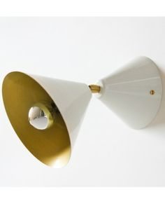Cone Lamp White / Brass - lighting - I/OBJECT