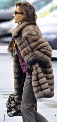 Three quarter length fur  :: Russian Siberian Sable fur  #anandco #furfashion #furonline