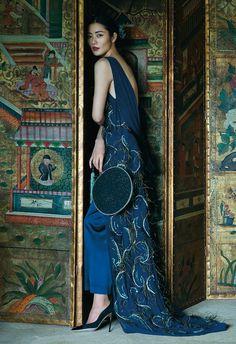 Liu Wen by Sun Jun for Harper's Bazaar China December 2015 - JennyPackham