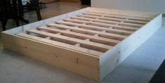 25 super ideas for cool furniture diy bed frames Bed Frame Plans, Diy Bed Frame, Bed Frames, Pallet Platform Bed, Platform Beds, Diy Platform Bed Frame, Platform Bed Plans, Full Platform Bed, Diy Bett