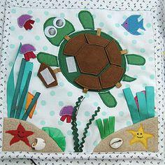 Quiet book turtle puzzle