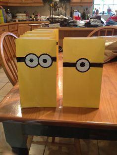Minion goodie birthday bags