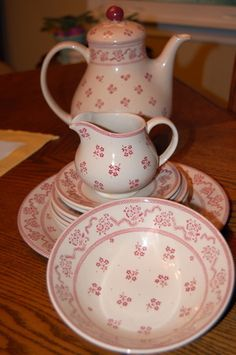 Laura Ashley Teapot and dishes