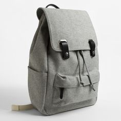 Next on the backpack purchase list! The Twill Backpack - Reverse Denim with Black Leather - Everlane