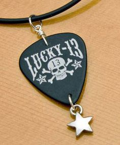 guitar pick jewelry projects | Authentic guitar pick necklaces featuring picks from guitar giants ...