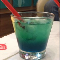 Colorful drink for the summer at Cafe coffee Day