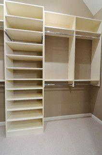 Melamine Closet - traditional - closet - atlanta - by CR Home Design K&B (Construction Resources)