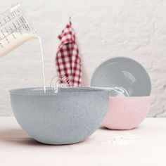 M Palsby Mixing Bowl Koziol Colour: Grey, Size: Earthenware, Stoneware, Joe Wicks, Kitchen Sets, Easy Cooking, Bowl Set, Serving Bowls, Organic, Ceramics