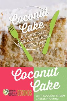 This Coconut Cake is rich, creamy, delicately sweet, & off the charts moist. It's topped off with coconut cream cheese frosting & shredded coconut! Sugar Frosting, Frosting Recipes, Cream Cheese Frosting, Cake Recipes, Dessert Recipes, Recipe Videos, Food Videos, Shredded Coconut, Cake Batter