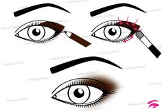 schema su come sfumare la matita occhi Beauty Make Up, Diy Beauty, Beauty Hacks, Eye Makeup Steps, Smokey Eye Makeup, Dance Makeup, Eyeliner, Eyeshadow, Makeup Lessons