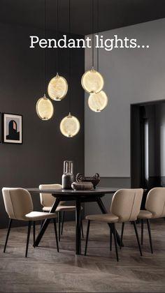 Modern Kitchen Island, Kitchen Island Lighting, Bedroom Furniture Design, Luxury Furniture, Spotlight Floor Lamp, Furniture Dining Table, Dining Tables, Dining Room, Glass Diffuser