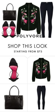 """""""Friday...."""" by j-n-a ❤ liked on Polyvore featuring Oscar Tiye, Topshop, Kate Spade and Frame Denim"""