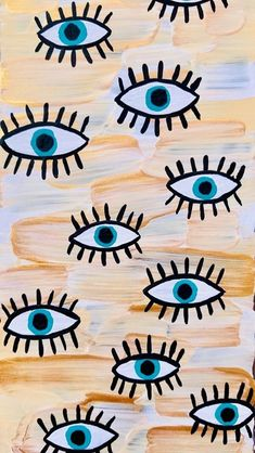 eyes pattern on canvas Wallpaper Pastel, Cute Patterns Wallpaper, Iphone Background Wallpaper, Aesthetic Iphone Wallpaper, Aesthetic Wallpapers, Gif Background, Retro Wallpaper, Background Vintage, Hippie Background