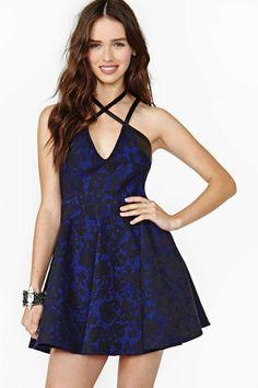 Nasty Gal Midnight Bloom Lace Dress