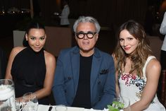 Actress Naya Rivera, designer Giuseppe Zanotti and singer Katharine McPhee @ Giuseppe Zanotti Design Beverly Hills Store Re-Opening on April 14, 2015