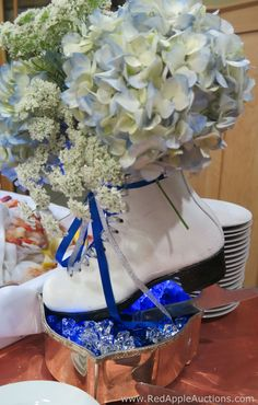 For a winter themed event, these ice skates would be a cute auction centerpiece. #nonprofitauction