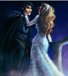 Feyre and Rhys at starfall