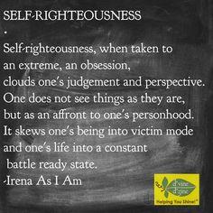 #SelfRighteousness #Battle #Victim