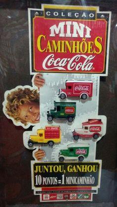 Nome da promoção:Mini Caminhões Coca-Cola Período da Promoção:15 de Outubro a 20 de Novembro de 1997   Itens promocionais: - Cartaz (Ponto de Venda) - Banners (Ponto de Venda) - Display (Ponto de Troca) - Copo Plástico:  - 300 ml - 500 ml - 700 ml - Regulamento Tampinhas:  - PET (vale 2 Pontos) - Aço (vale 1 Ponto) Rótulos: - Pet 600 ml - Pet 2 Litros (SP) - Pet 2 Litros (Modelo Grande)  Mecânica da Promoção:  - Válido para todas as embalagens (menos lata) - Juntando 10…