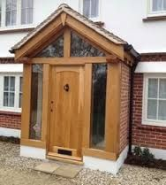 Disciplined guided entrance porch design Get your Porch Uk, Front Door Porch, Front Porch Design, House With Porch, House Front, Porch Doors Uk, Front Doors, Porch Designs Uk, Porch Extension