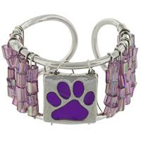 Purple Paw Beaded Ring at The Animal Rescue Site - BRACELET