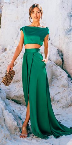 d40896d6 27 Wedding Guest Dresses For Every Seasons & Style ❤ wedding guest  dresses spring green