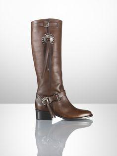 Sareena Leather Concho Boot - Ralph Lauren Collection Collection Shoes - RalphLauren.com.