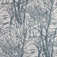 Under Hillway Coppice — Susie Hetherington Textiles Printed Linen, Grey Fabric, Shades Of Grey, Printing On Fabric, Woodland, City Photo, Carpet, Prints, Pattern