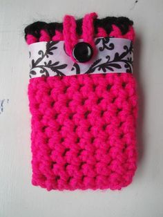 RTS Hand Crocheted Cell Phone Case with by AuntieRuthsBoutique, $6.99