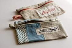 zippered pouch tutorial - edited to update link