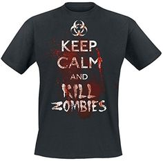 Keep Calm And Kill Zombies Camiseta Negro #camiseta #starwars #marvel #gift