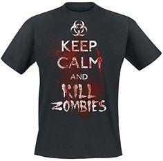 Keep Calm And Kill Zombies Camiseta Negro L #camiseta #friki #moda #regalo