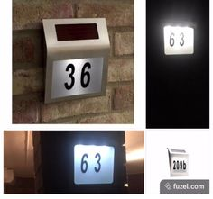 Solar light sign  number lights up at night making it easier to find your house. Which can help delivery drivers arrive quicker or even friends and family find your new house. https://solar-ways.myshopify.com