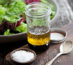 Balsamic Vinaigrette - Quick and Easy Recipes, Organic Food Recipes, New Zealand Cooking Recipes - Annabel Langbein Lunch Recipes, New Recipes, Real Food Recipes, Salad Recipes, Cooking Recipes, Favorite Recipes, Healthy Recipes, Easy Recipes, Shrimp Recipes